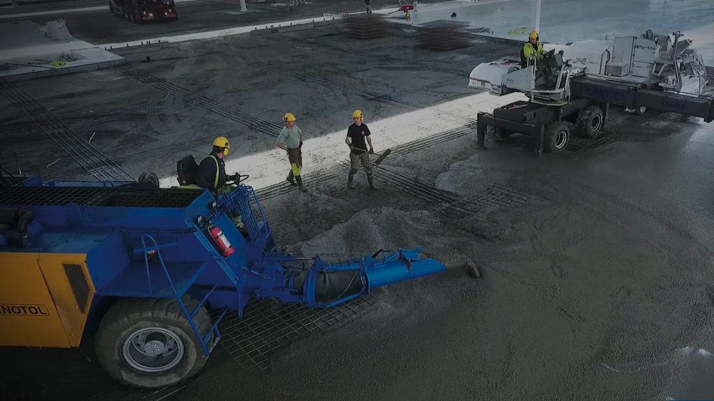 Gjutning av betonggolv Linotol